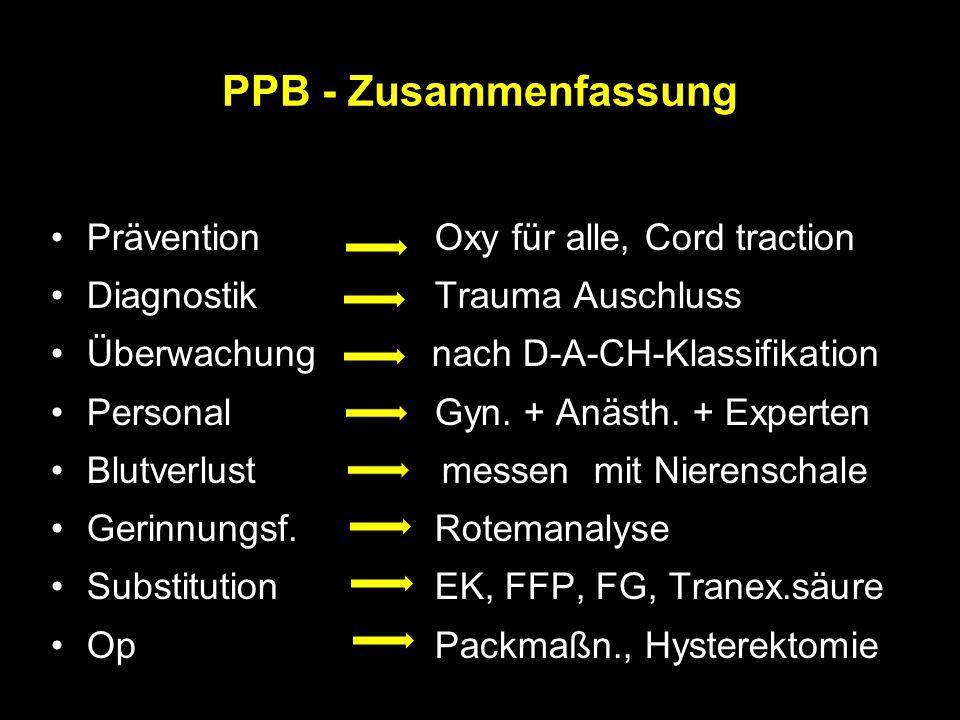 PPB - Zusammenfassung Prävention Oxy für alle, Cord traction