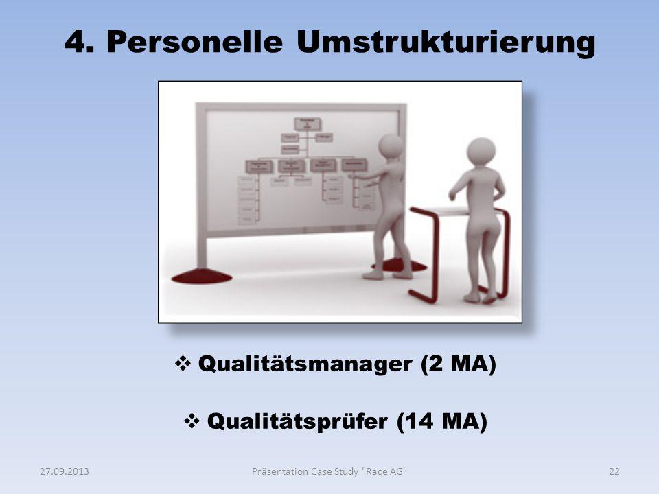 4. Personelle Umstrukturierung