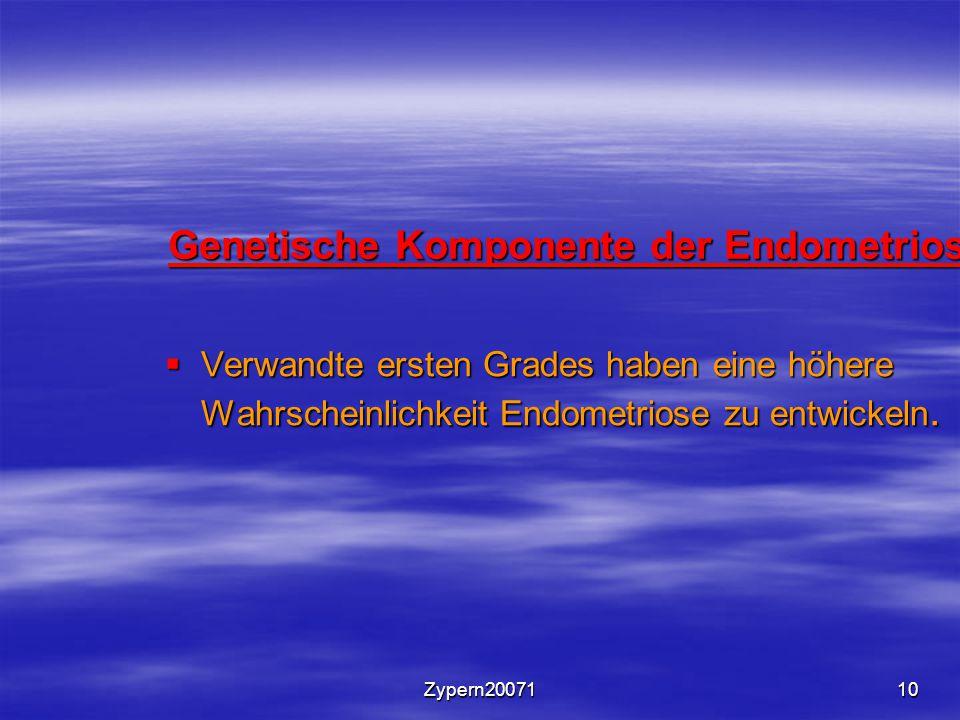 Genetische Komponente der Endometriose