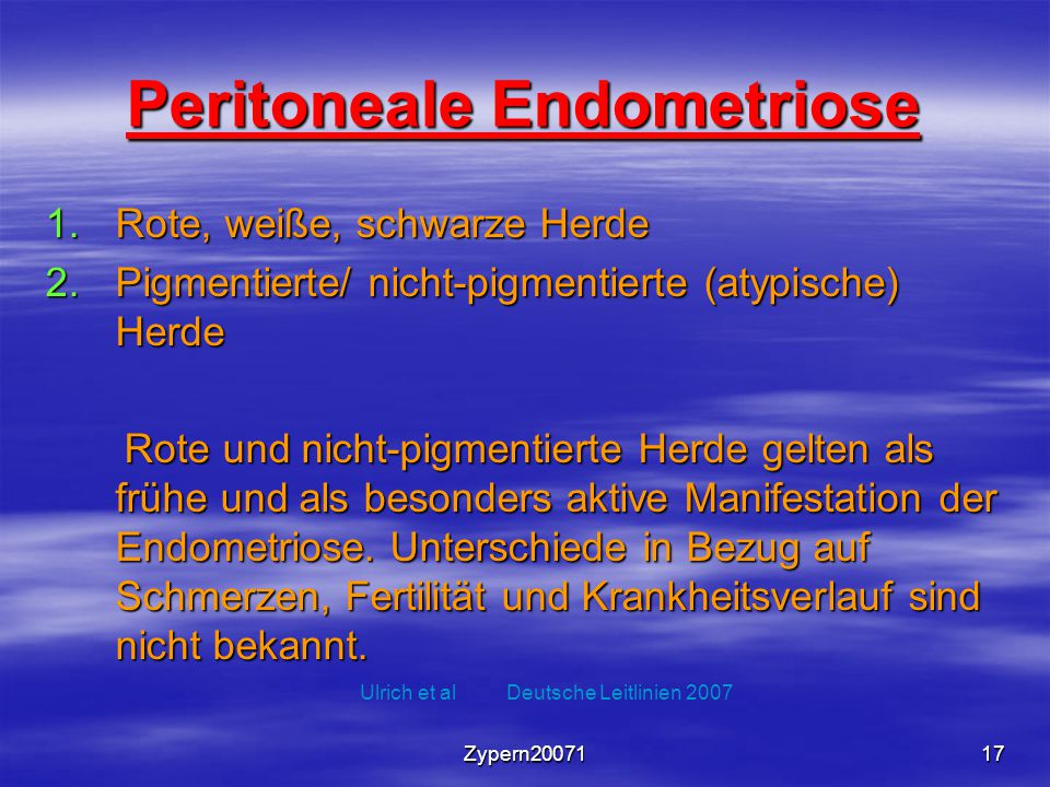 Peritoneale Endometriose