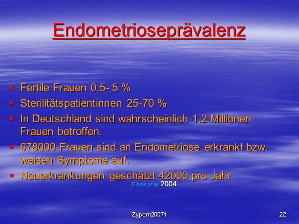 Endometrioseprävalenz