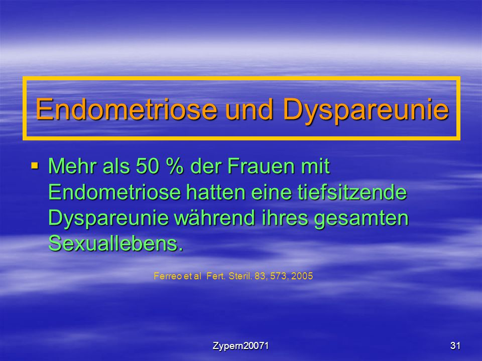 Endometriose und Dyspareunie