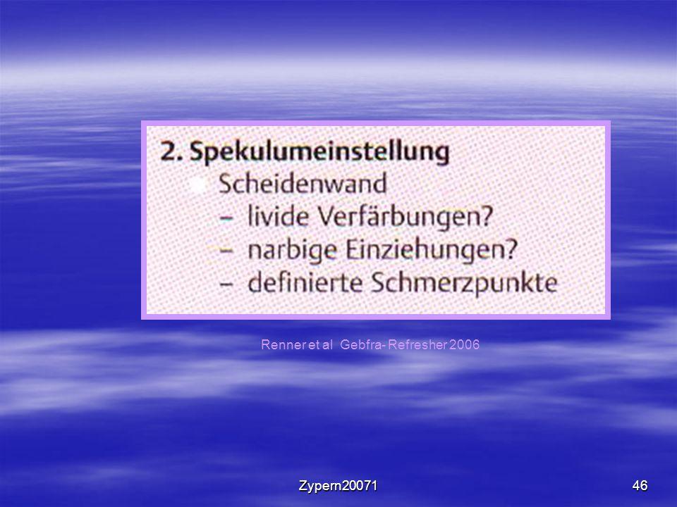 Renner et al Gebfra- Refresher 2006