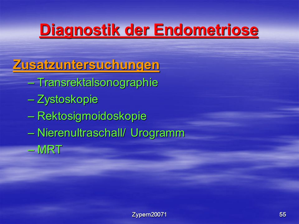 Diagnostik der Endometriose