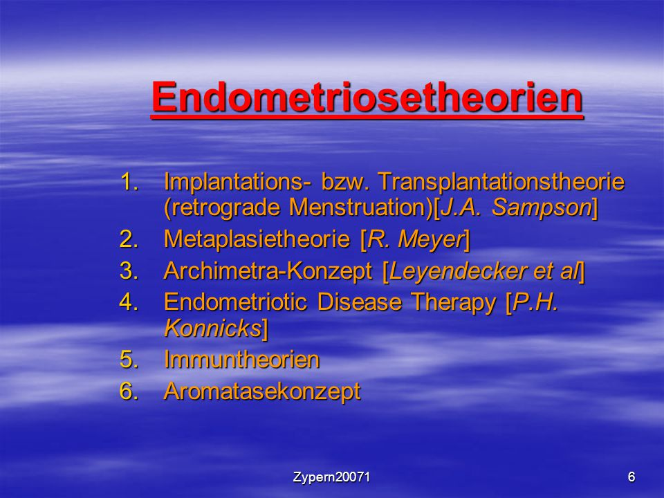 Endometriosetheorien