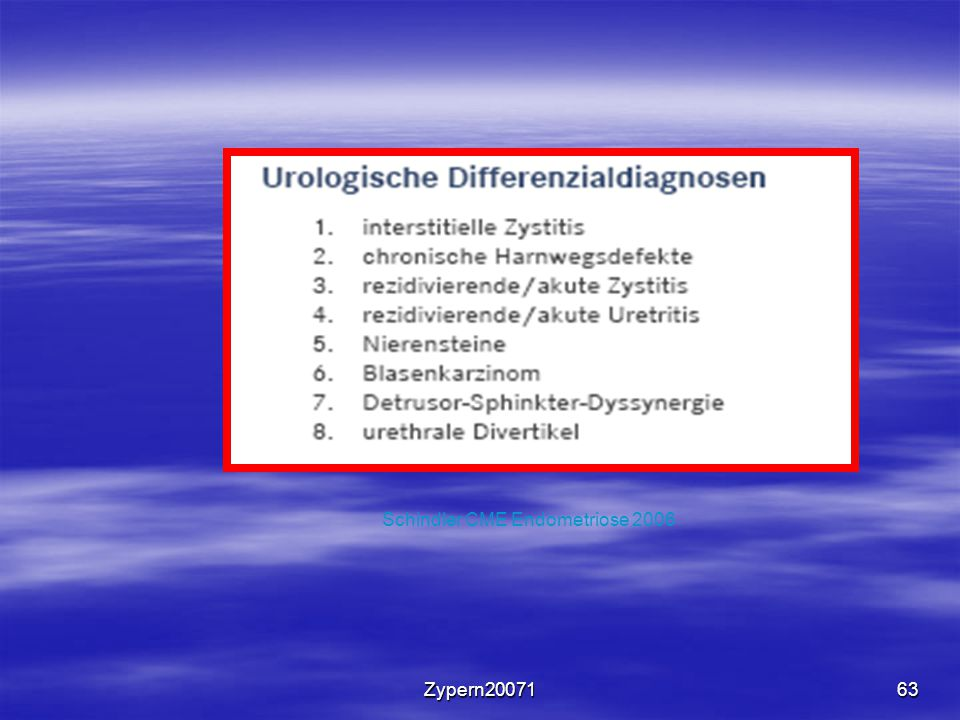 Schindler CME Endometriose 2006