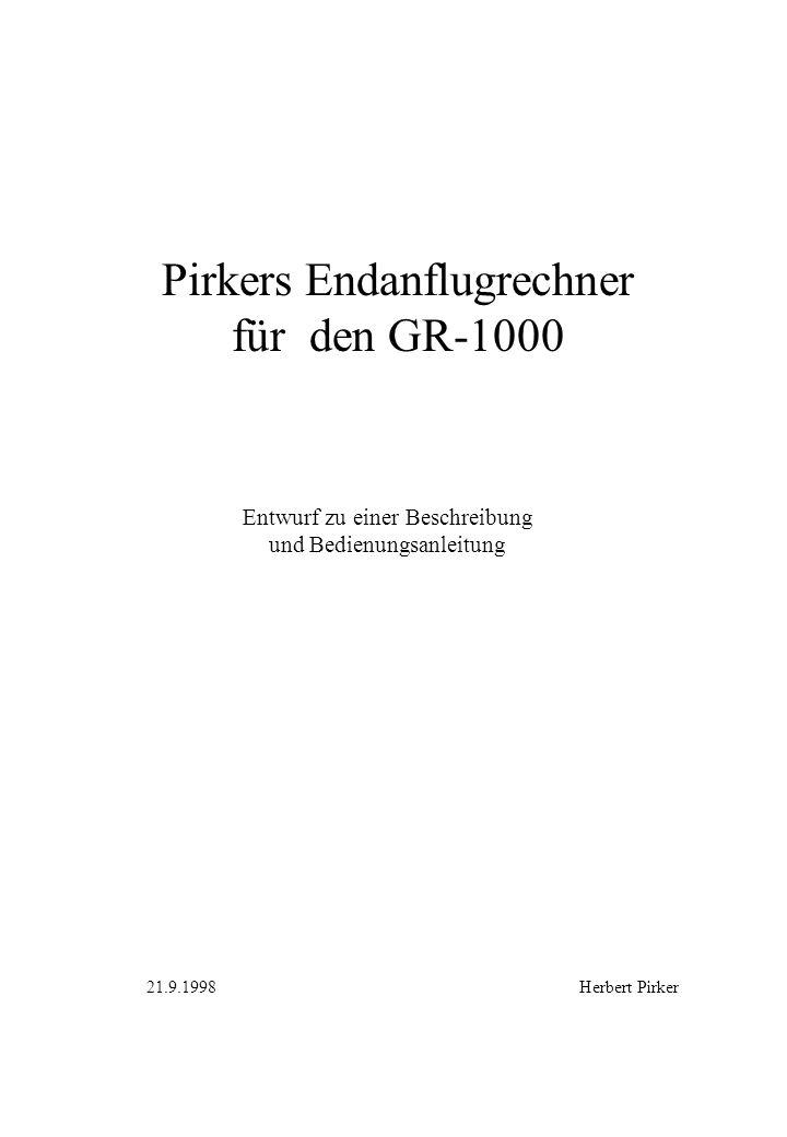 Pirkers Endanflugrechner für den GR-1000