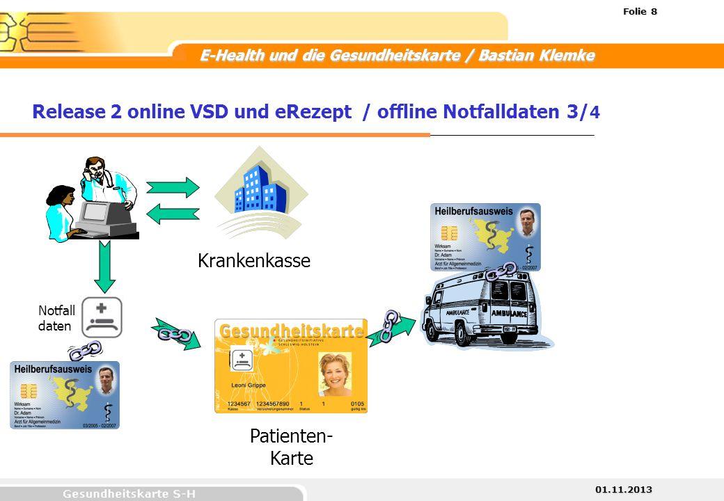 Release 2 online VSD und eRezept / offline Notfalldaten 3/4