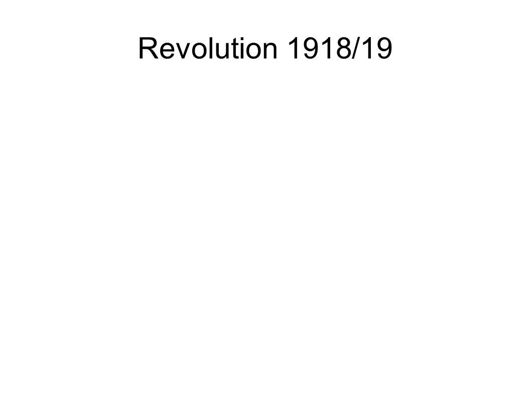 Revolution 1918/19