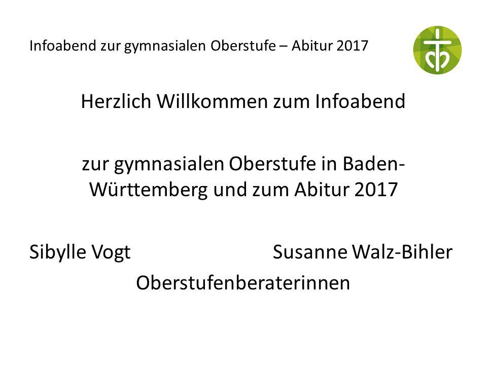 Infoabend zur gymnasialen Oberstufe – Abitur 2017