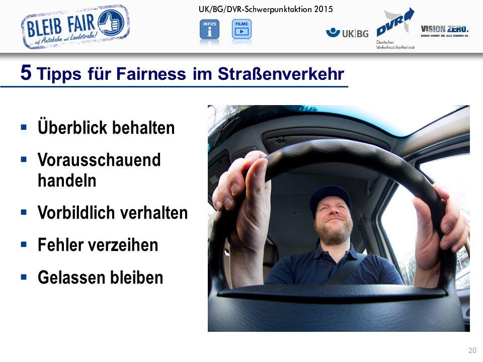 5 Tipps für Fairness im Straßenverkehr