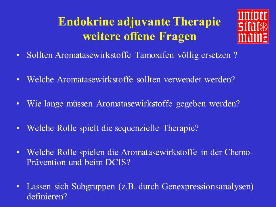 Endokrine adjuvante Therapie weitere offene Fragen