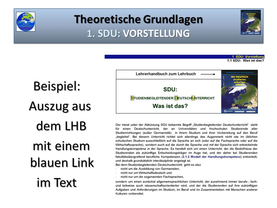 Theoretische Grundlagen 1. SDU: VORSTELLUNG