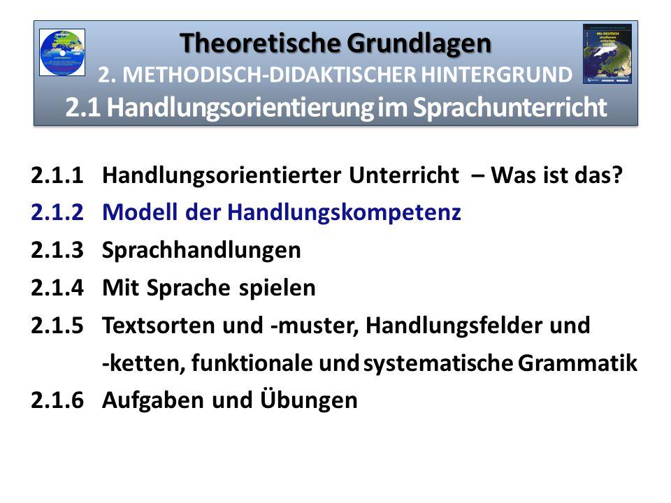 Theoretische Grundlagen 2. METHODISCH-DIDAKTISCHER HINTERGRUND 2