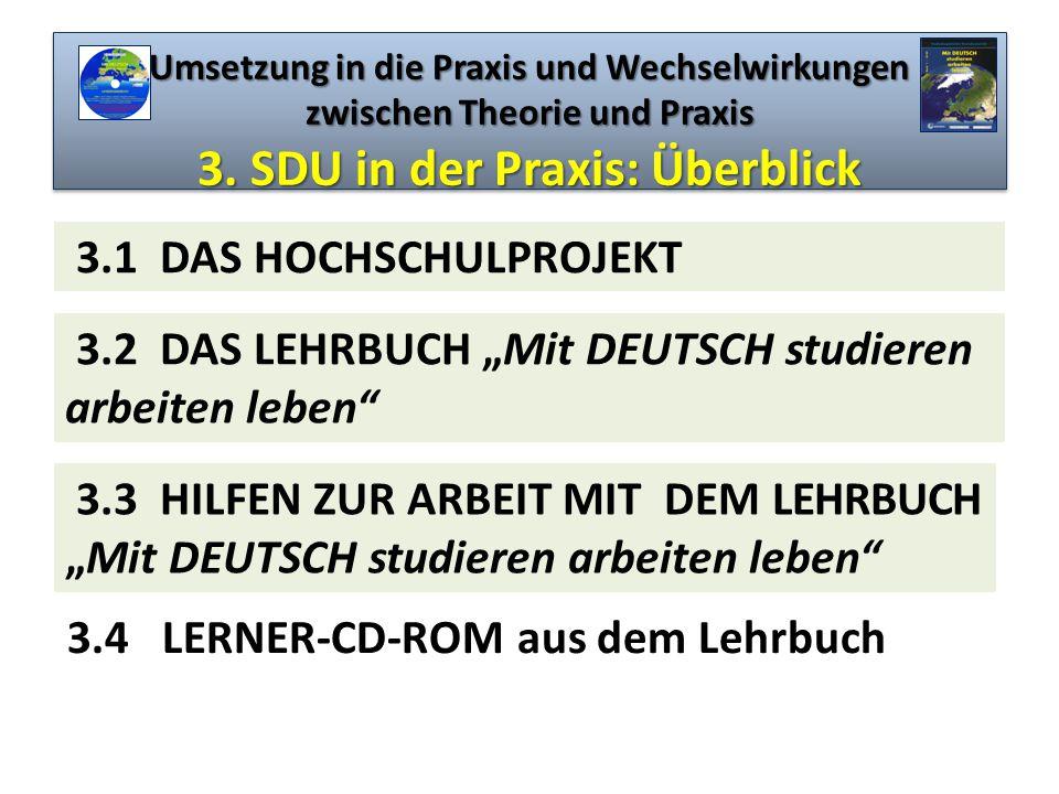 """3.2 DAS LEHRBUCH """"Mit DEUTSCH studieren arbeiten leben"""