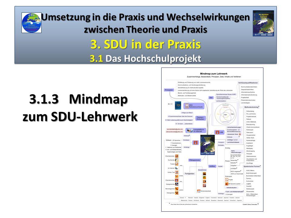 3.1.3 Mindmap zum SDU-Lehrwerk