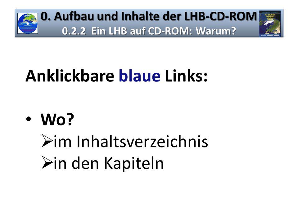 0. Aufbau und Inhalte der LHB-CD-ROM 0.2.2 Ein LHB auf CD-ROM: Warum