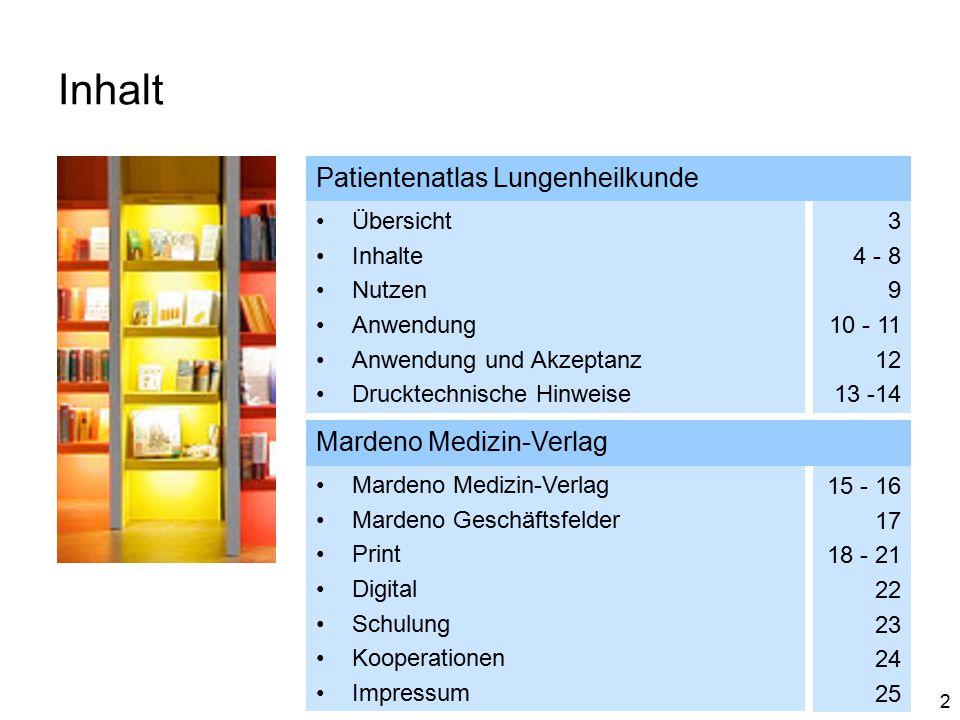Inhalt Patientenatlas Lungenheilkunde Mardeno Medizin-Verlag Übersicht