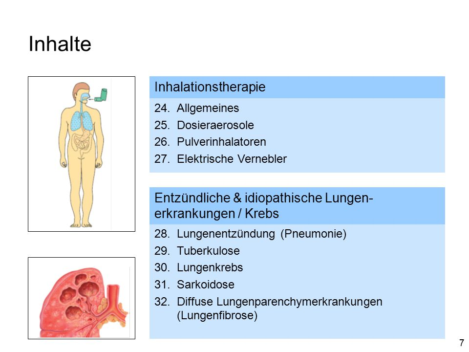 Inhalte Inhalationstherapie
