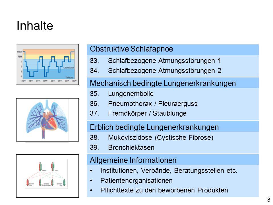 Inhalte Obstruktive Schlafapnoe Mechanisch bedingte Lungenerkrankungen