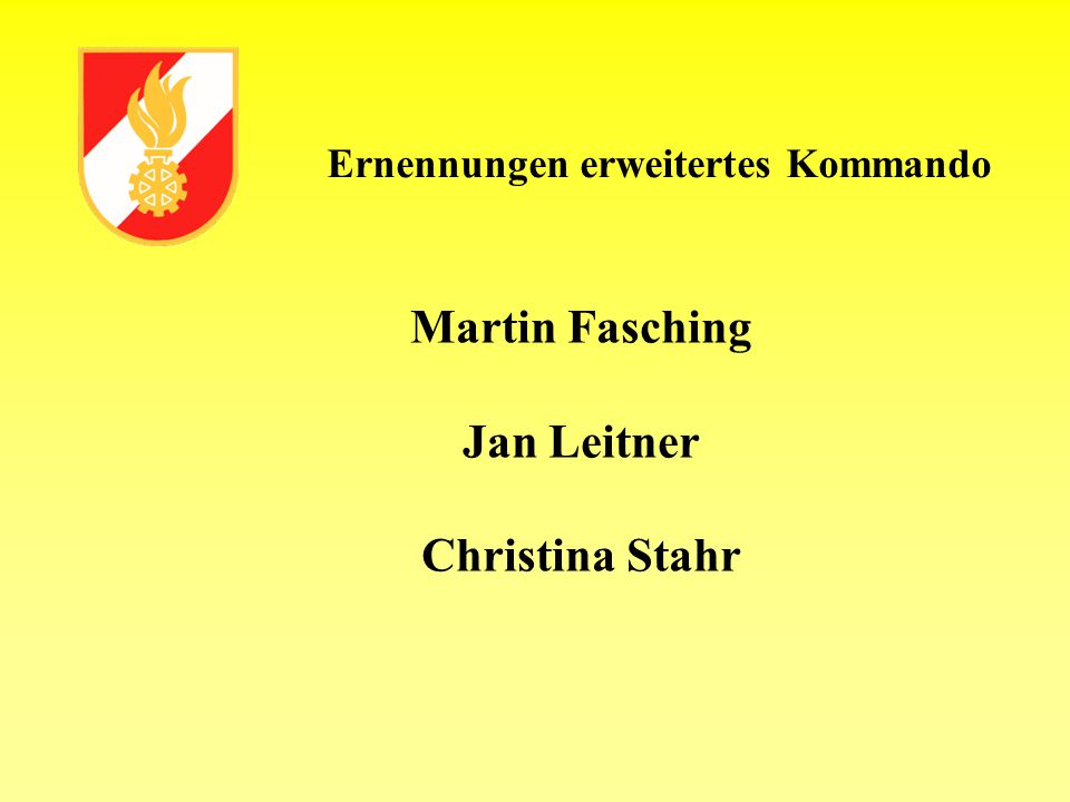 Martin Fasching Jan Leitner Christina Stahr
