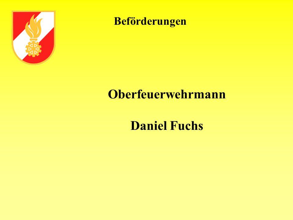 Oberfeuerwehrmann Daniel Fuchs