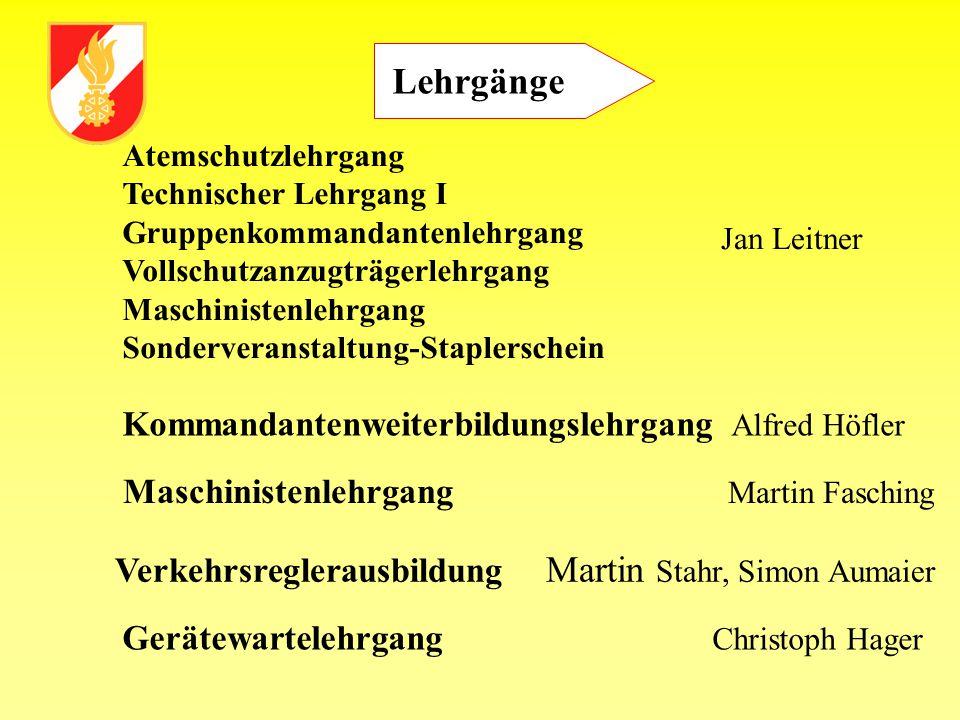 Lehrgänge Kommandantenweiterbildungslehrgang Alfred Höfler