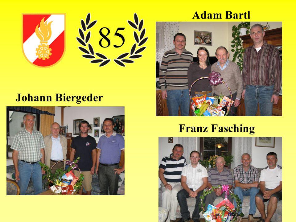 Adam Bartl 85 Johann Biergeder Franz Fasching