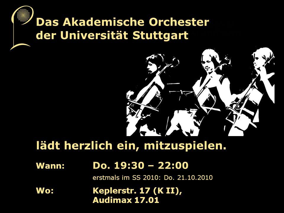 Das Akademische Orchester der Universität Stuttgart