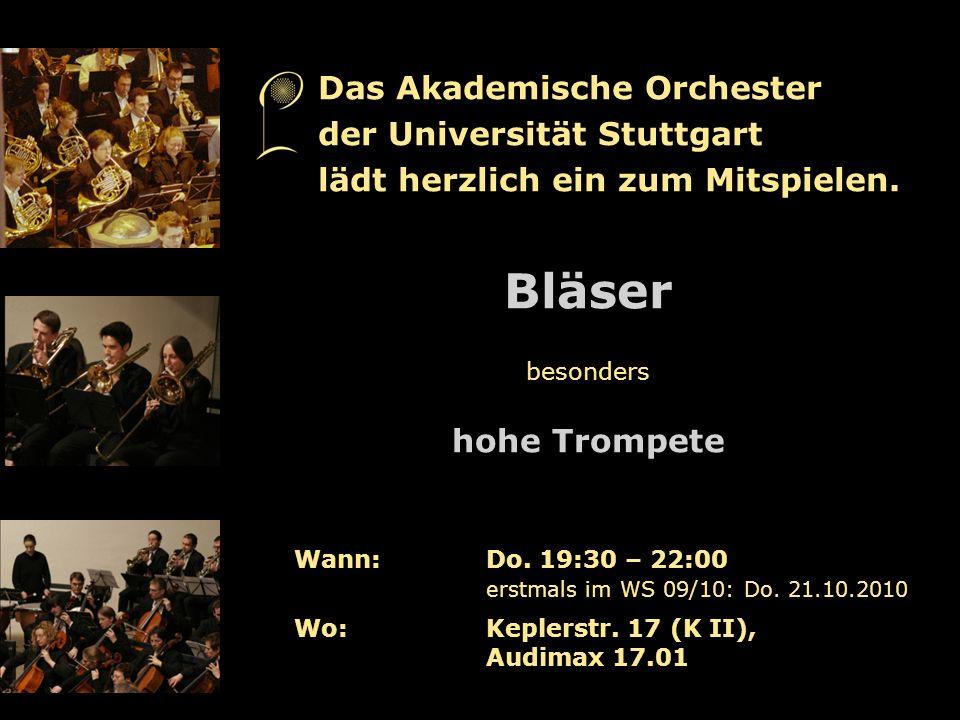 Bläser Das Akademische Orchester der Universität Stuttgart