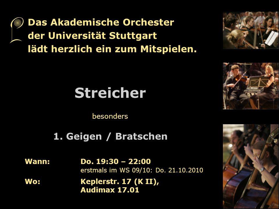 Streicher Das Akademische Orchester der Universität Stuttgart