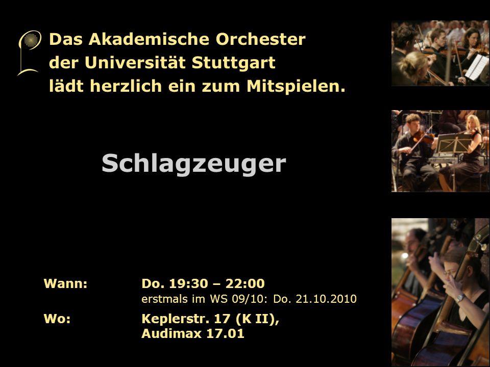 Schlagzeuger Das Akademische Orchester der Universität Stuttgart