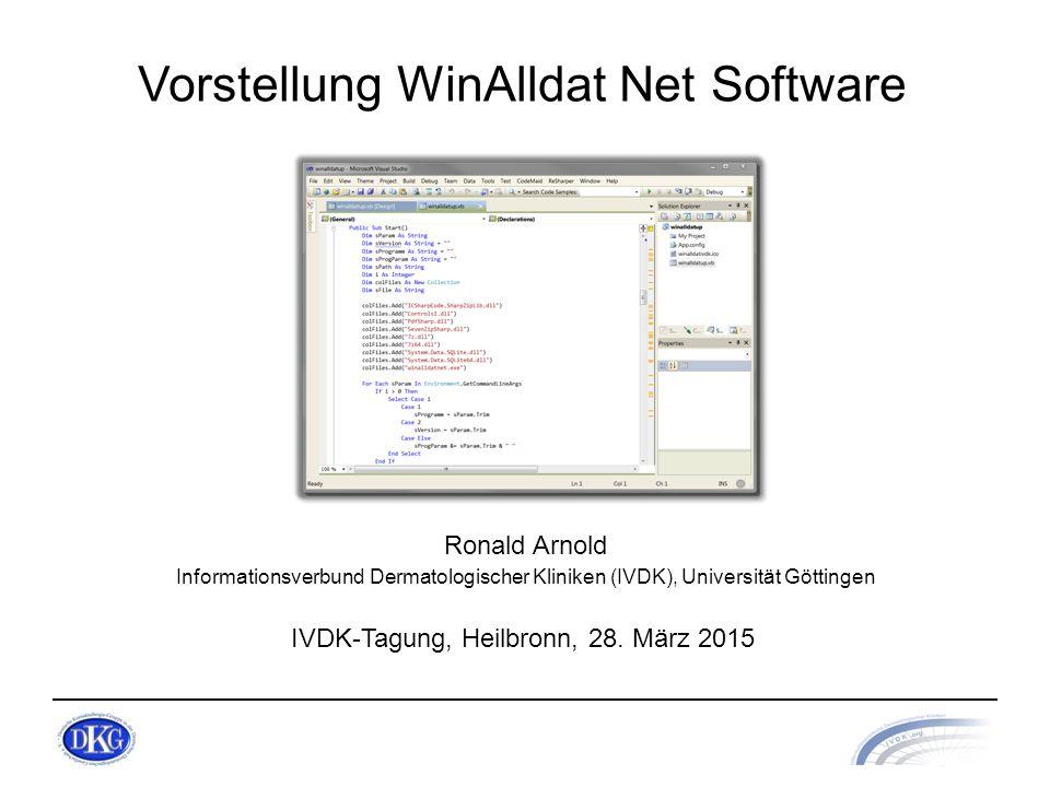 Vorstellung WinAlldat Net Software