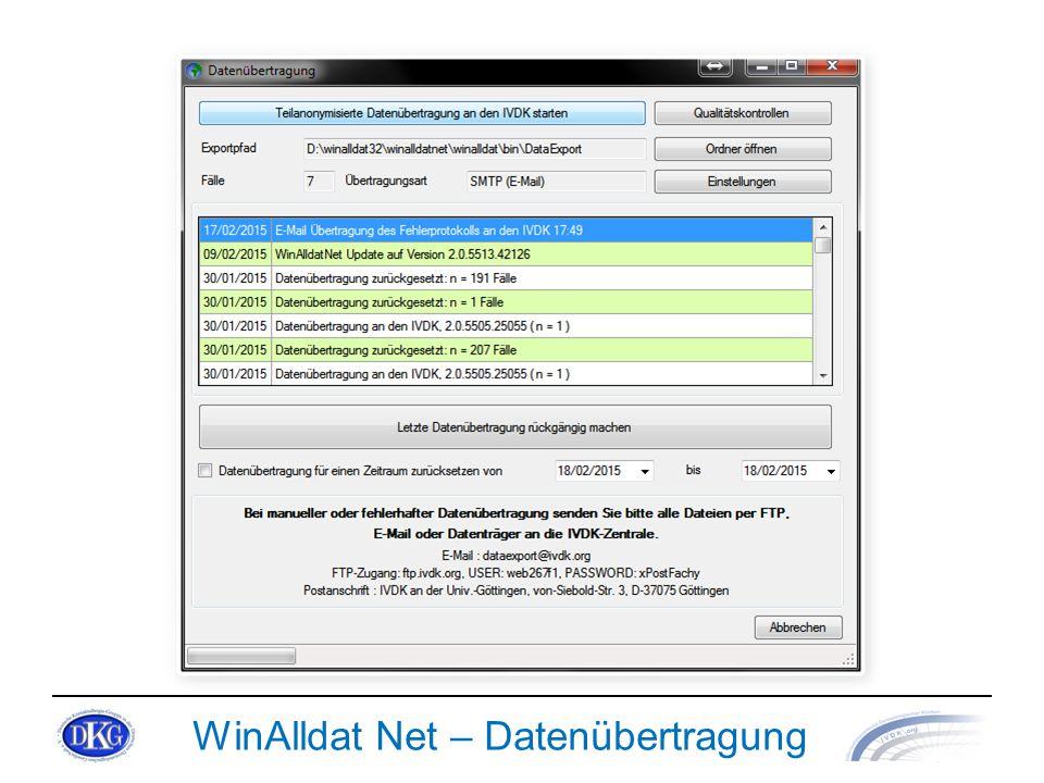 WinAlldat Net – Datenübertragung