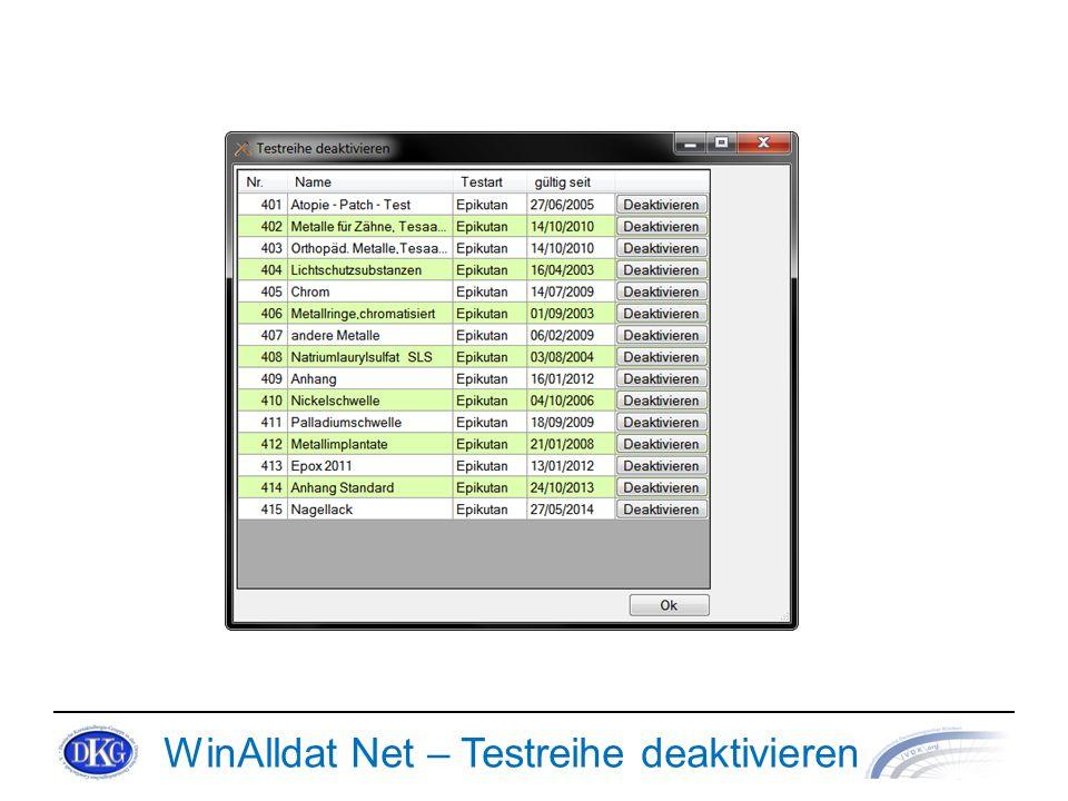 WinAlldat Net – Testreihe deaktivieren