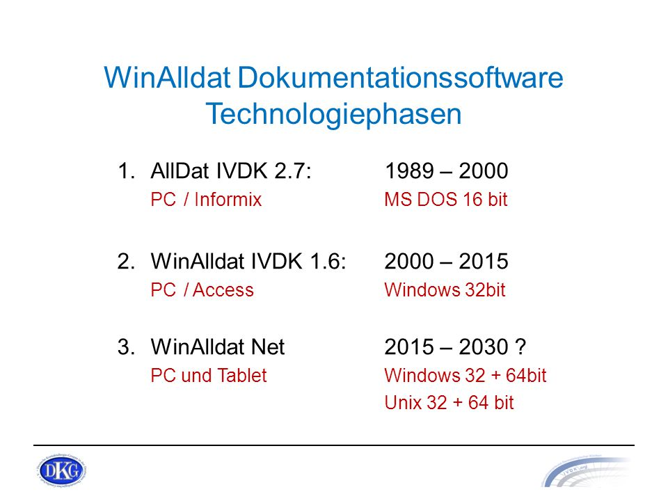 WinAlldat Dokumentationssoftware Technologiephasen