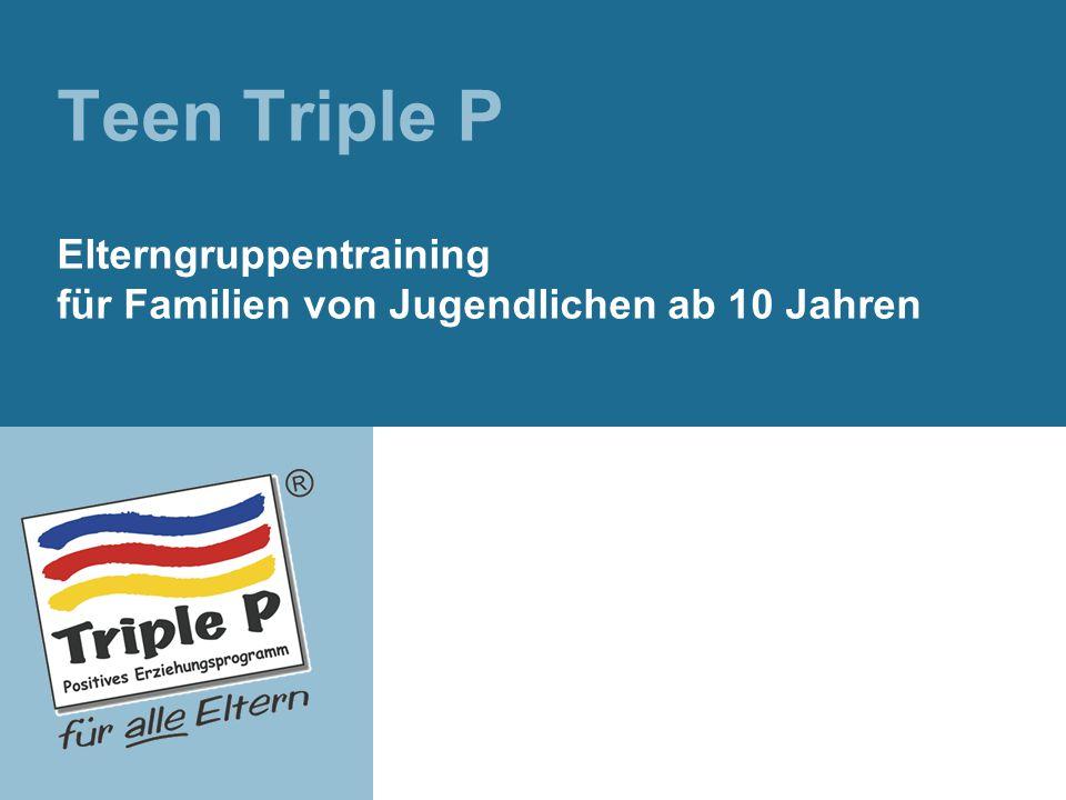 Teen Triple P Elterngruppentraining für Familien von Jugendlichen ab 10 Jahren