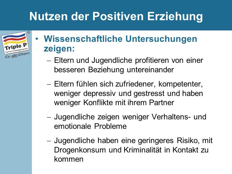 Nutzen der Positiven Erziehung
