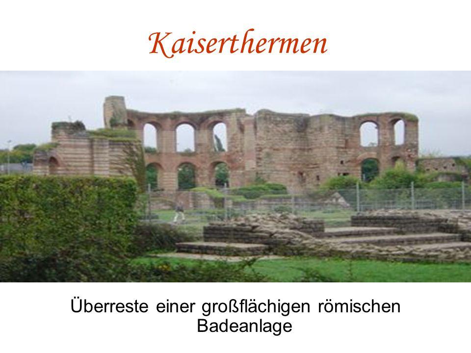 Überreste einer großflächigen römischen Badeanlage