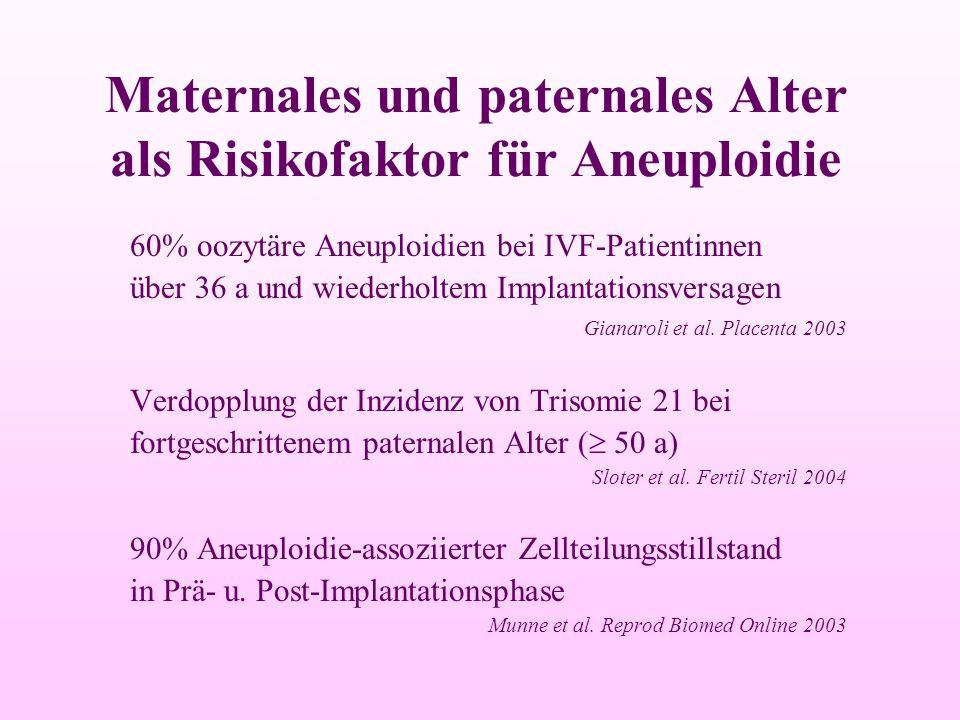 Maternales und paternales Alter als Risikofaktor für Aneuploidie