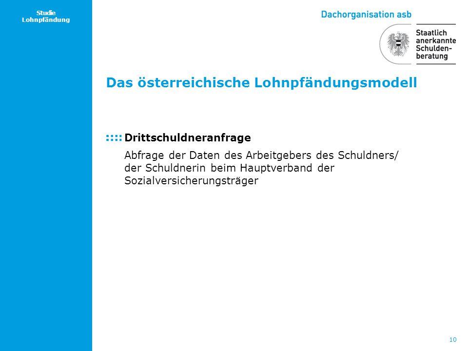 Das österreichische Lohnpfändungsmodell