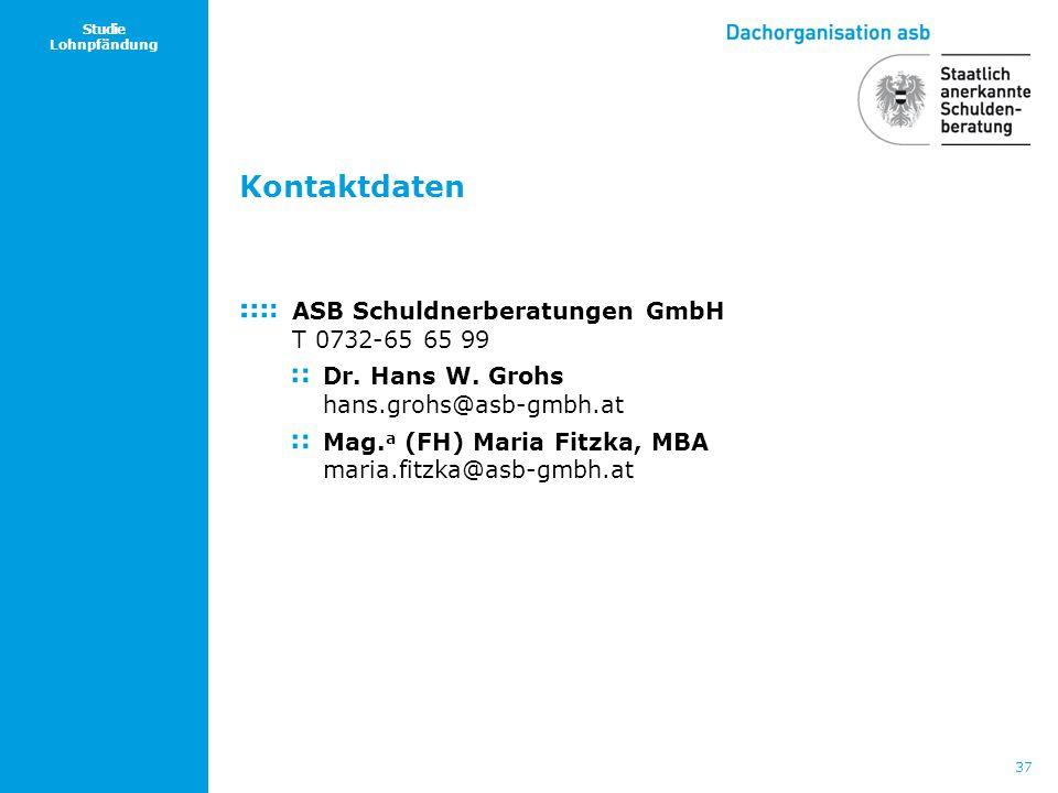 Kontaktdaten ASB Schuldnerberatungen GmbH T 0732-65 65 99