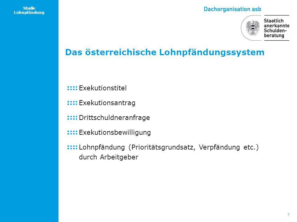 Das österreichische Lohnpfändungssystem