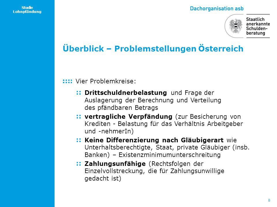 Überblick – Problemstellungen Österreich