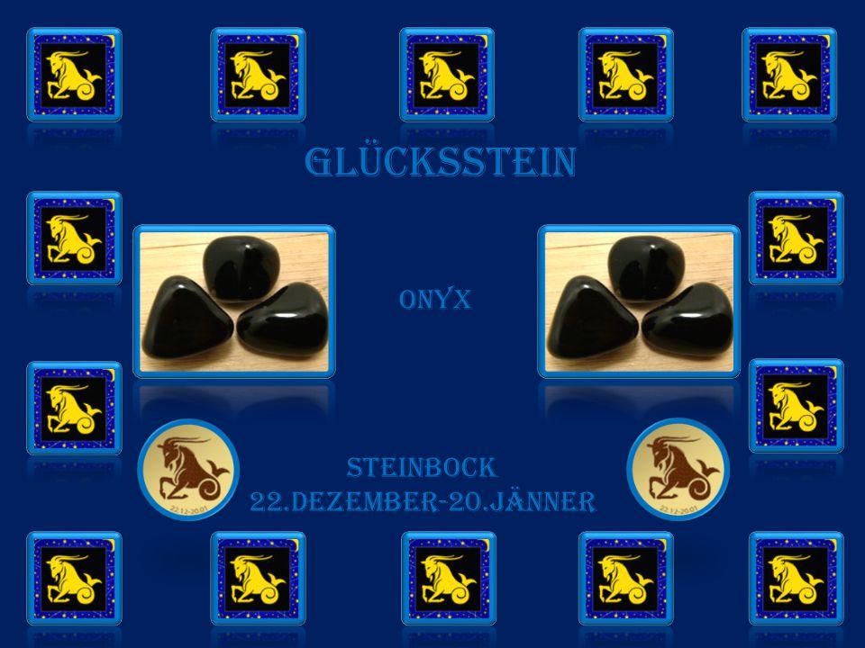GLÜCKSSTEIN onyx STEINBOCK 22.DEZEMBER-20.JÄNNER