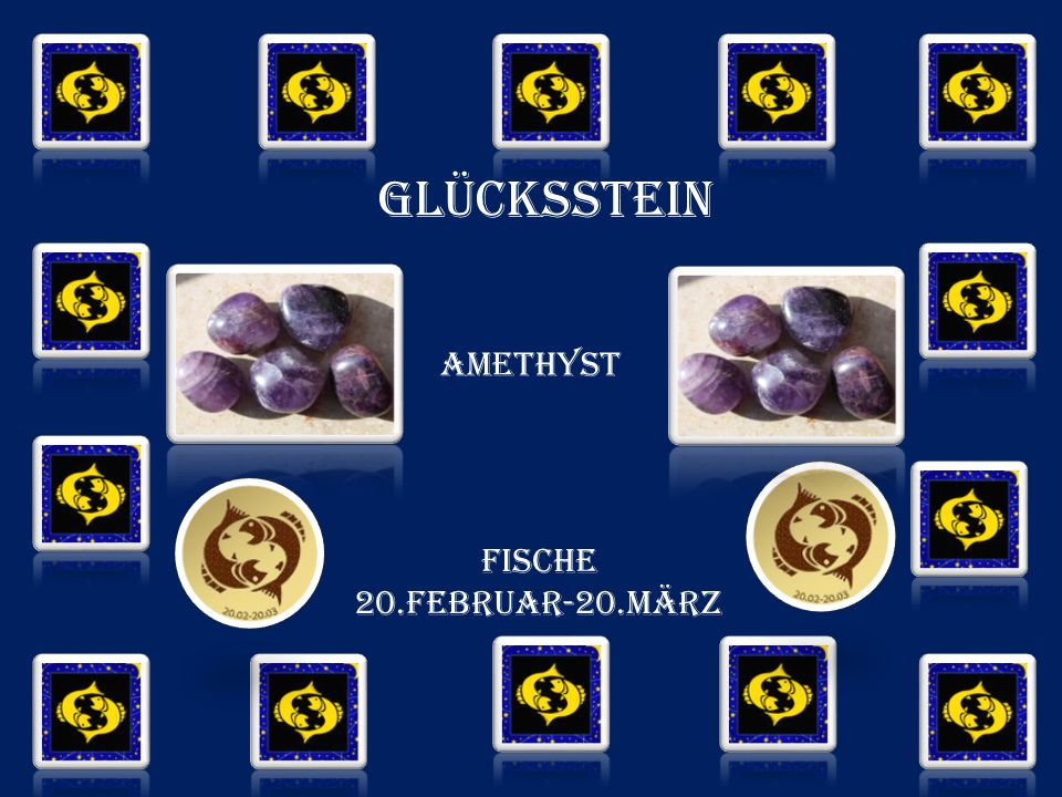 GLÜCKSSTEIN amethyst FISCHE 20.FEBRUAR-20.MÄRZ
