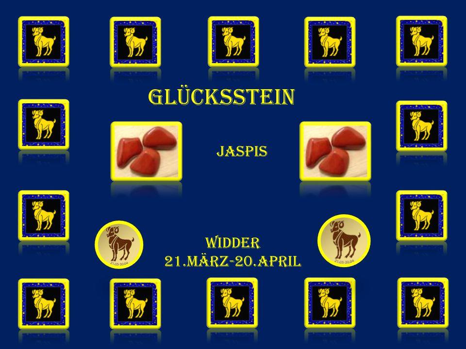 GLÜCKSSTEIN Jaspis WIDDER 21.MÄRZ-20.APRIL