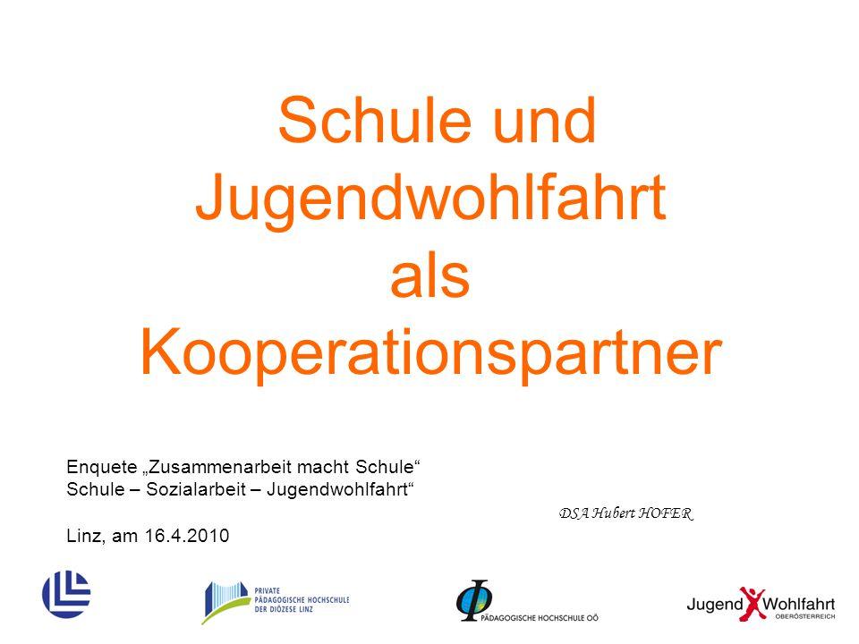 Schule und Jugendwohlfahrt als Kooperationspartner