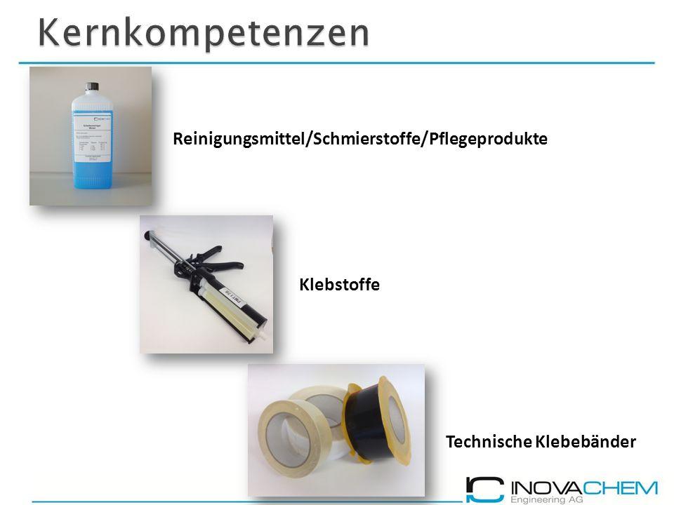 Kernkompetenzen Reinigungsmittel/Schmierstoffe/Pflegeprodukte