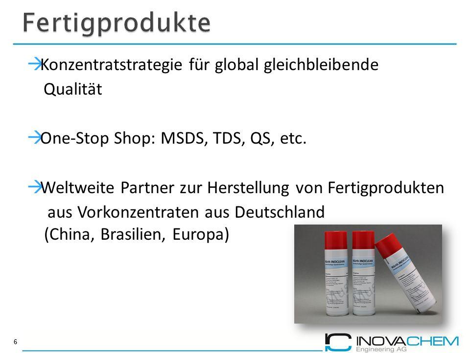 Fertigprodukte Konzentratstrategie für global gleichbleibende Qualität